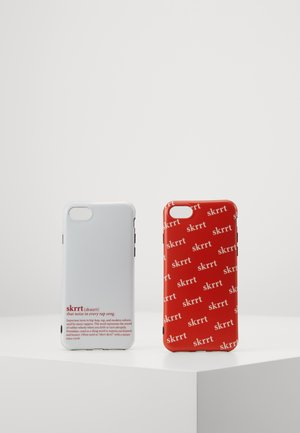 PHONE CASE SET - Telefoonhoesje - white/red