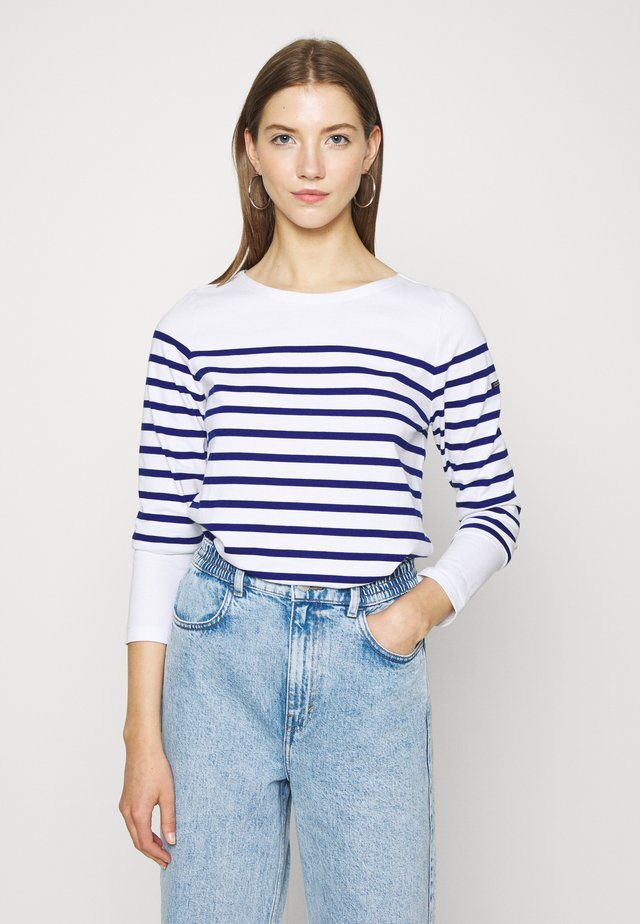 CLASSIC ENGINEERED BRETON - T-shirt à manches longues - white/blue