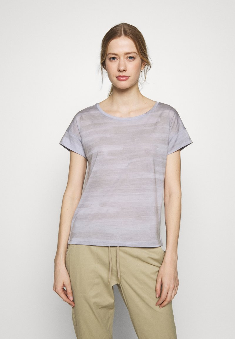 Icebreaker - VIA SCOOP - T-shirts med print - mercury heather