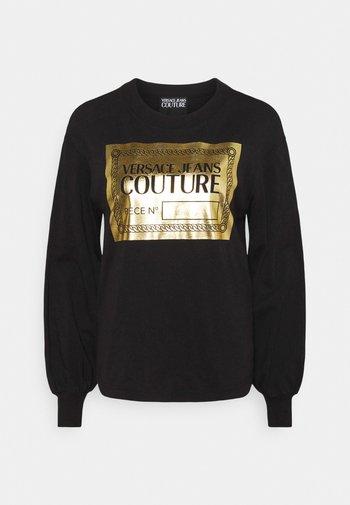 Maglietta a manica lunga - black/gold