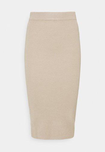 AVA KNITTED SKIRT - Pencil skirt - oxford tan
