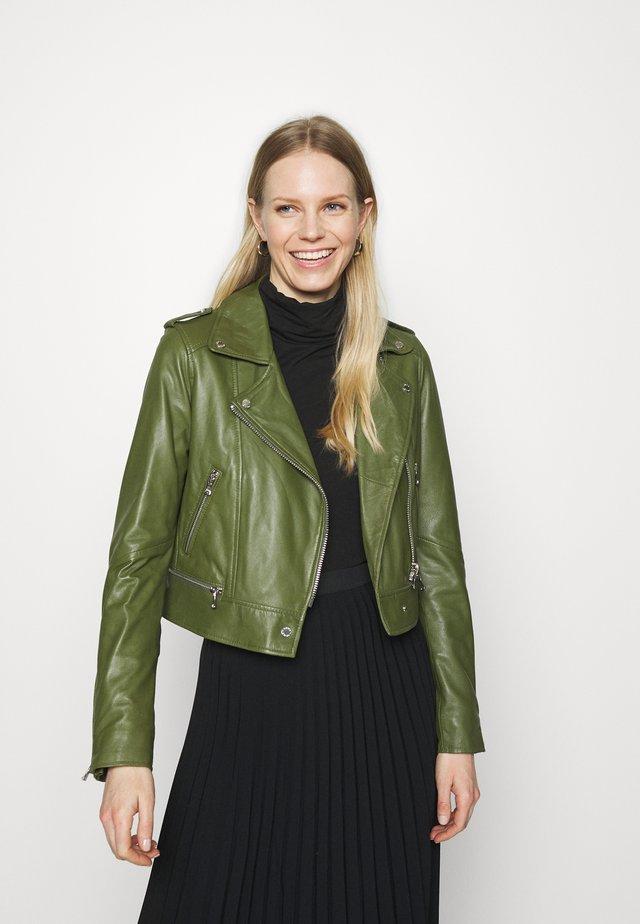 YOKO - Kožená bunda - green