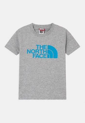 YOUTH EASY UNISEX - Print T-shirt - grey/dark blue