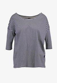 G-Star - VIM LOOSE - Print T-shirt - grey htr/mazarine blue stripe - 4