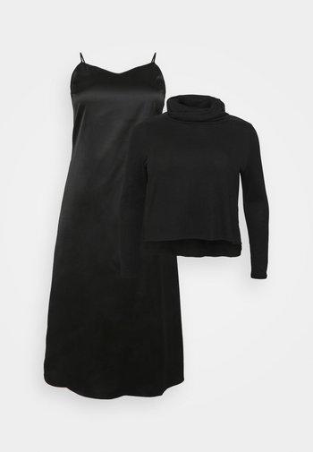 SIOBHAN MIX DRESS - T-shirt à manches longues - black