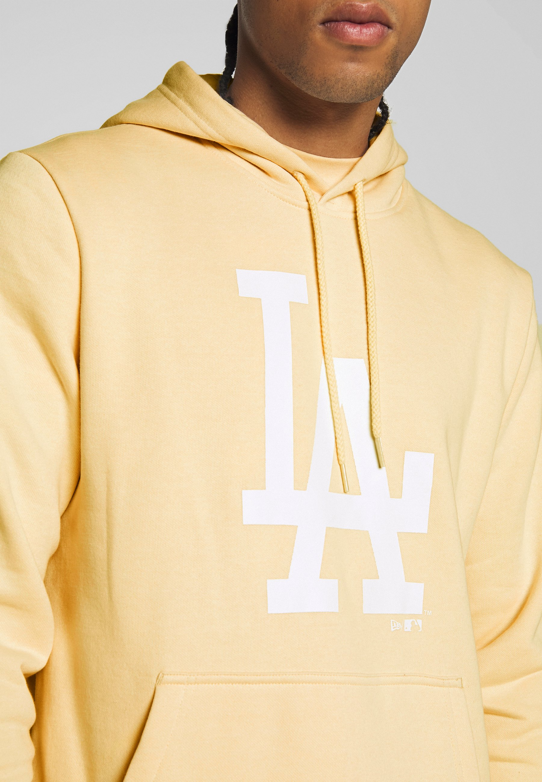 New Era MLB SEASONAL TEAM LOGO HOODY LOS ANGELES DODGERS - Article de supporter - beige