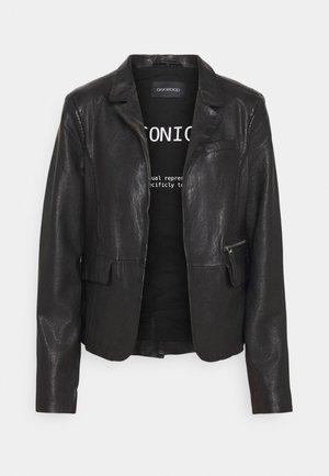 RESET - Leather jacket - black