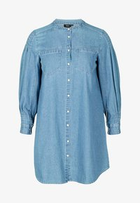 Zizzi - Button-down blouse - blue - 3