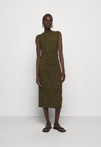 Proenza Schouler White Label - ABSTRACT SWIRL SHEER STRETCH DRESS - Robe longue - military/black - 0