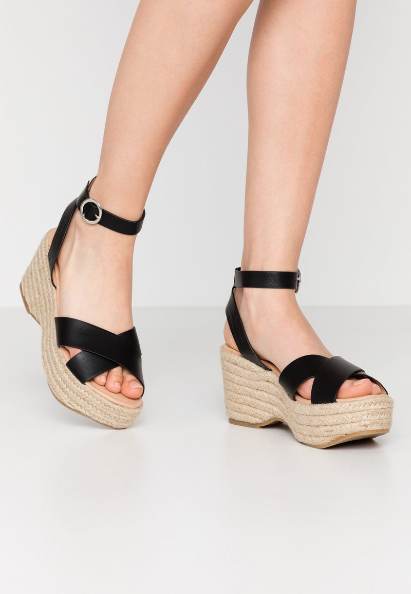 Simply Be - WIDE FIT TUSCANY - High heeled sandals - black