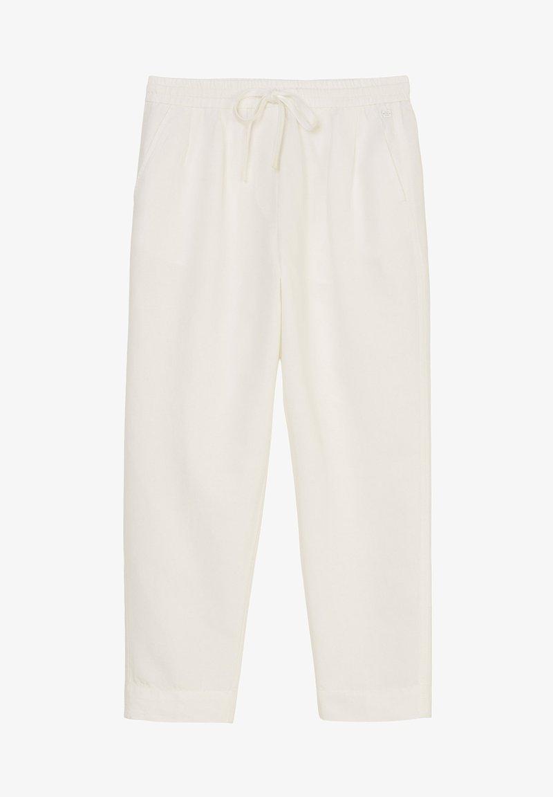 Marc O'Polo DENIM - CROPPED - Trousers - scandinavian white