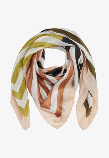 MIT ALLOVER-PRINT - Foulard - green multi stripes
