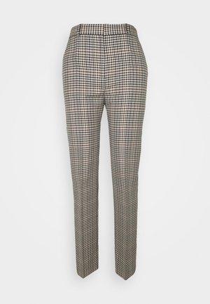 DRAINPIPE CHECK TROUSER - Trousers - cream check