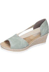 Rieker - Wedge sandals - mint - 1