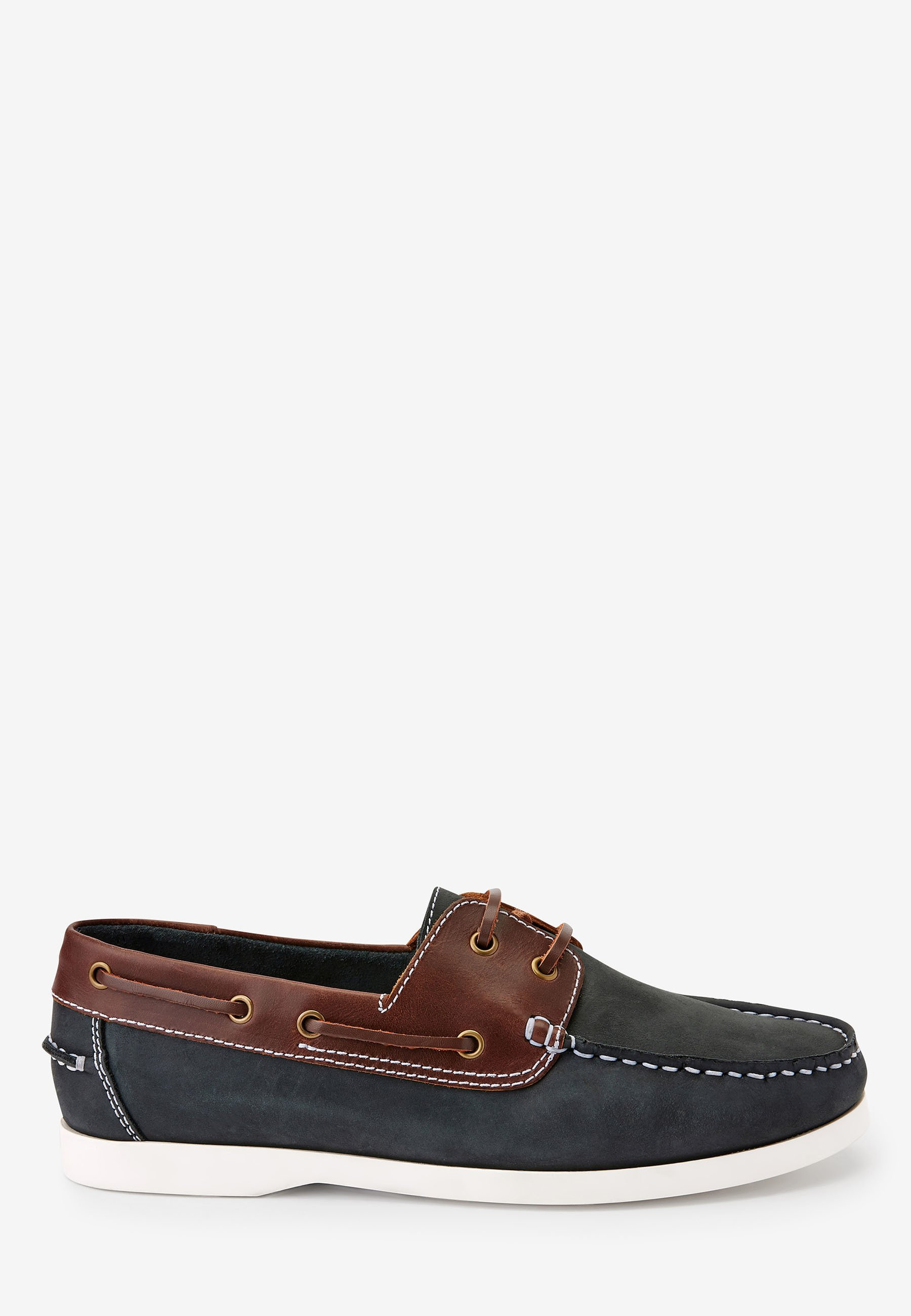 Homme NAVY LEATHER BOAT SHOES - Chaussures bateau
