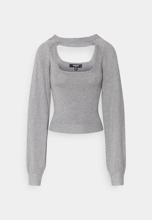 TWO PIECE LAYERED TOP - Trui - grey