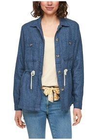 s.Oliver - Denim jacket - mottled dark blue - 6
