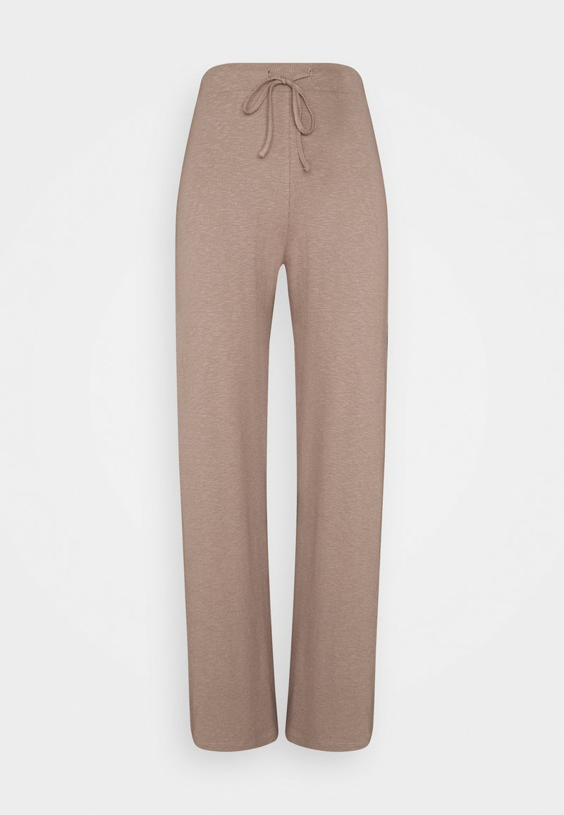 Pieces - PCLASA WIDE PANT LOUNGE  - Trousers - cinder