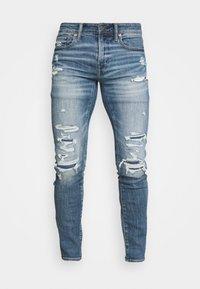 American Eagle - MEDIUM MENDED - Jeans Skinny Fit - indigo fray - 3