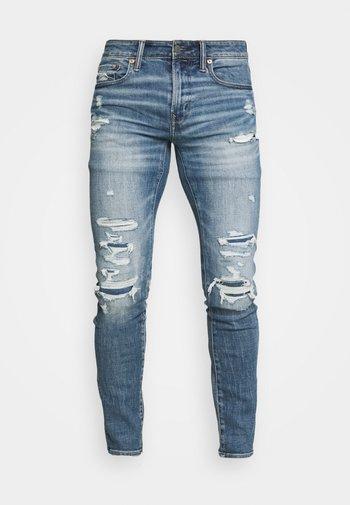 MEDIUM MENDED - Skinny džíny - indigo fray