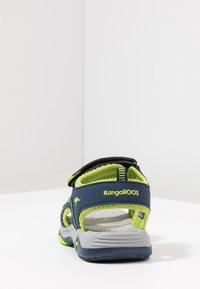 KangaROOS - LOGAN - Walking sandals - dark navy/lime - 4