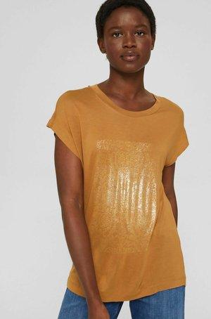 Print T-shirt - caramel