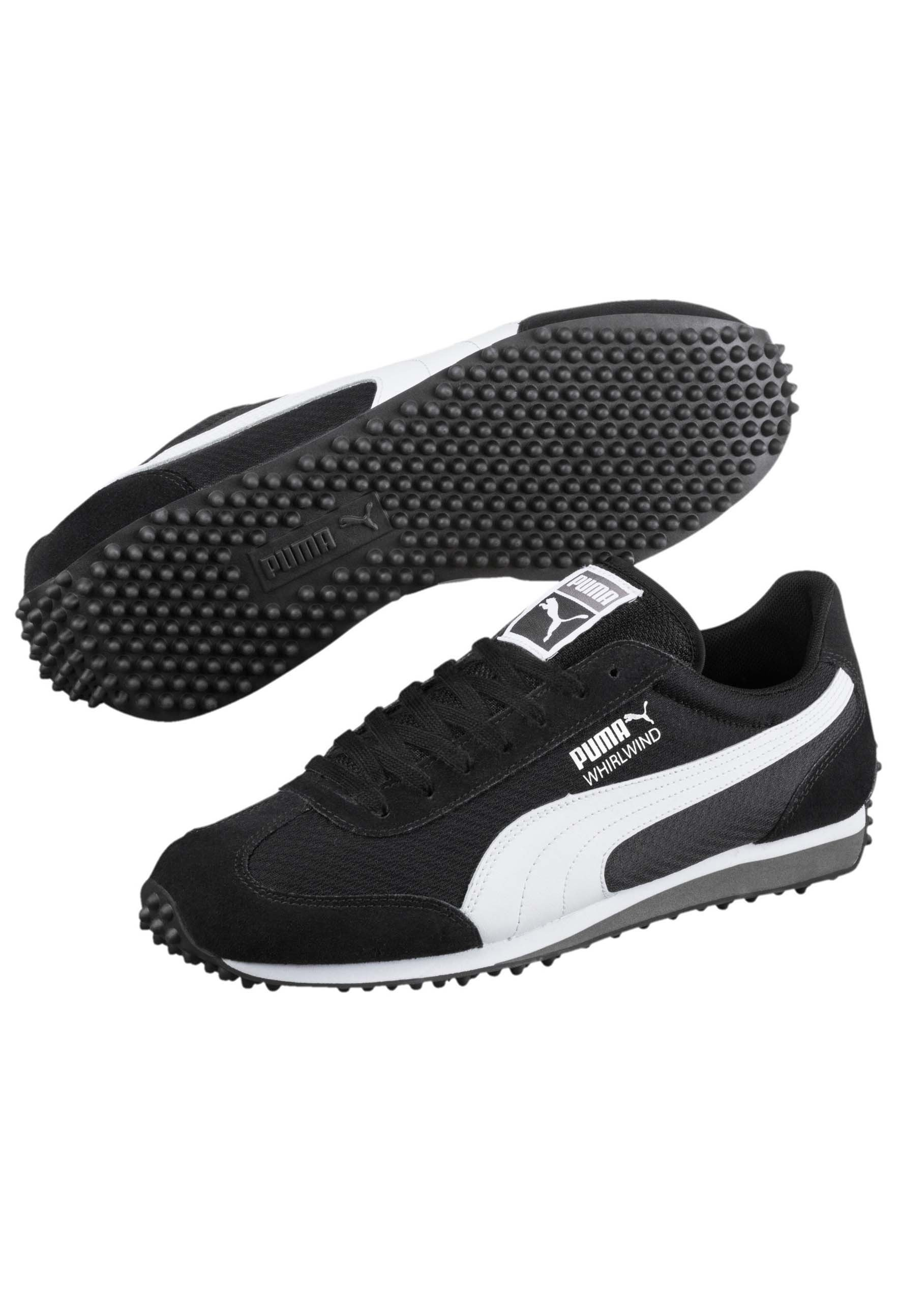 Puma WHIRLWIND - Baskets basses - black- white-black-silver/noir ...