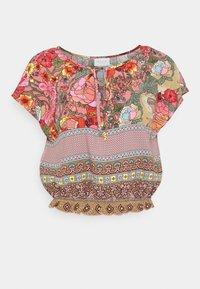 VILAVENDA CROPPED FESTIVAL - Print T-shirt - multi-coloured