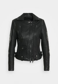 Diesel - DIANE JACKET - Leather jacket - black - 0