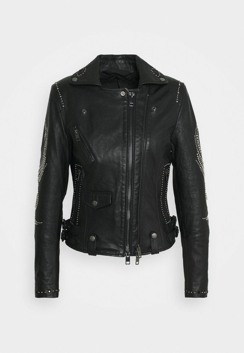 Diesel - DIANE JACKET - Leather jacket - black
