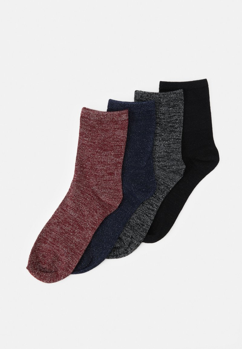 Vero Moda - VMGLAM SOCKS 4 PACK - Socks - black/nightsky/cabernet/black