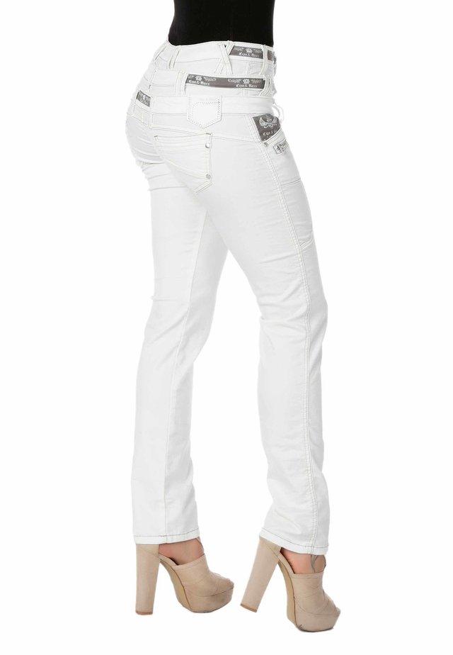 Slim fit jeans - wit-grijs