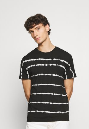 VAGOS CREW - T-shirt print - washd black/chalk white
