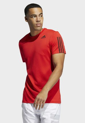 AERO3S DESIGNED4TRAINING PRIMEBLUE - Polo shirt - red
