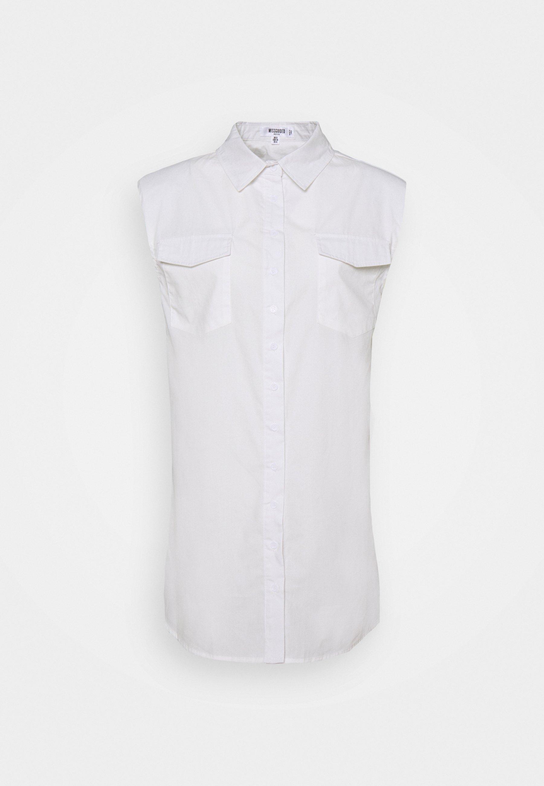 Women SHOULDER PAD SLEEVELESS DRESS - Shirt dress
