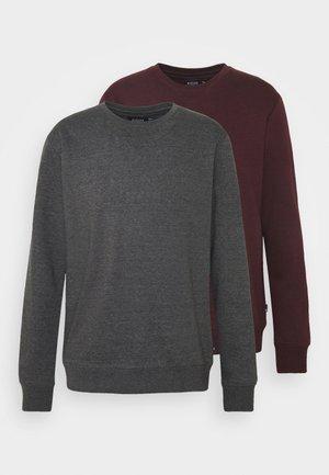 2 PCK CREW CHAR BURG - Sweatshirt - dark grey