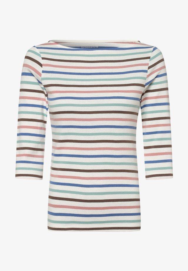 Long sleeved top - weiß mehrfarbig