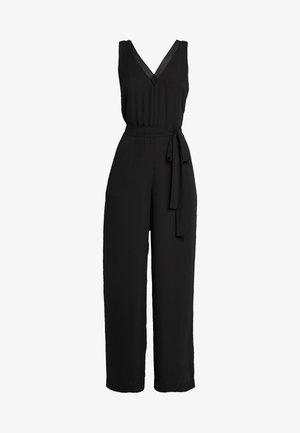VNECK WIDE LEG - Jumpsuit - black