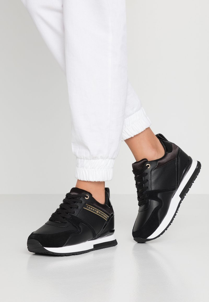 Tommy Hilfiger - WEDGE  - Trainers - black