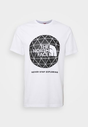 GEODOME TEE - Print T-shirt - white