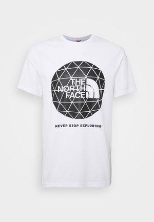 GEODOME - Print T-shirt - white