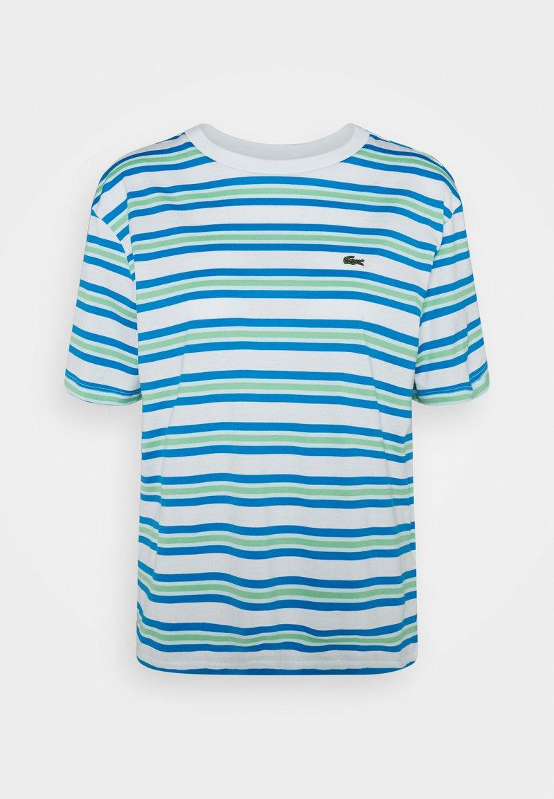 Lacoste - Print T-shirt - flour/ibiza syringa liamone