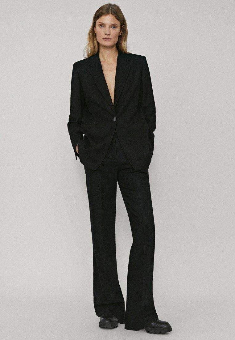 Massimo Dutti - Trousers - black