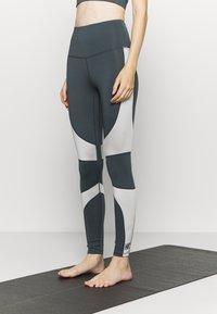 HIIT - HIGH SHINE PANEL LEGGING - Leggings - mid grey - 0