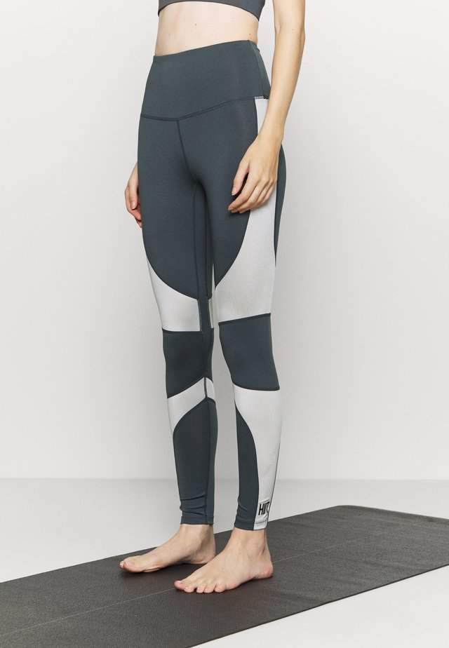 HIGH SHINE PANEL LEGGING - Tights - mid grey
