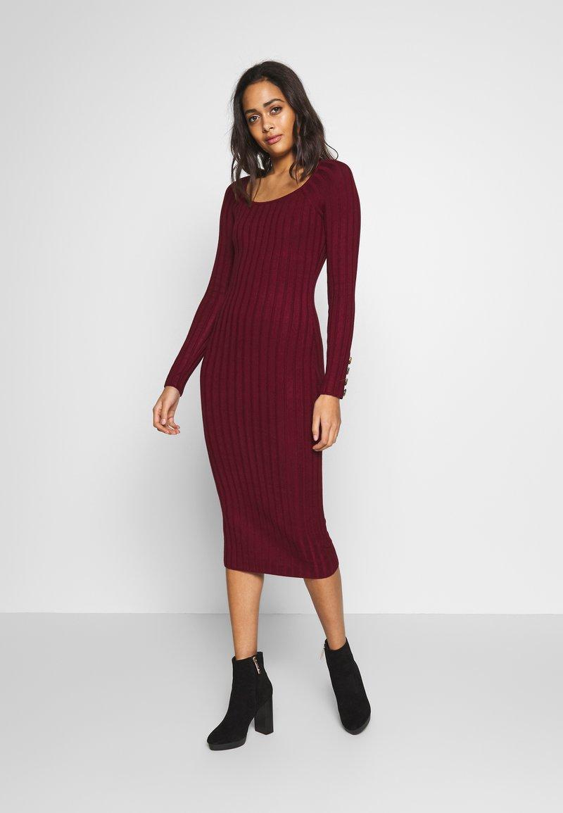 Miss Selfridge - DRESS - Abito in maglia - bordeaux