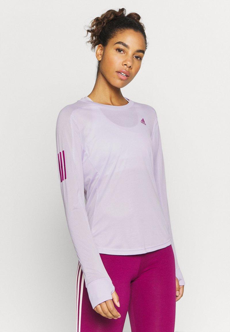 adidas Performance - SPORTS RUNNING LONG SLEEVE - Funkční triko - purple