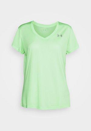 TECH SSV TWIST - Sports shirt - aqua foam/white/metallic silver