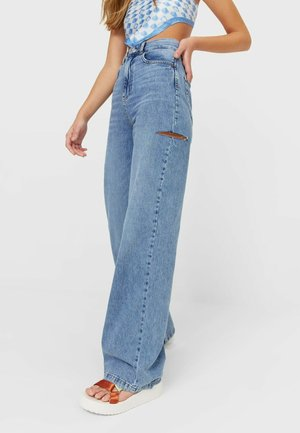 WIDE LEG - Flared jeans - blue