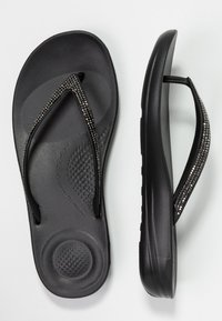 FitFlop - IQUSHION SPARKLE - Flip Flops - black - 3